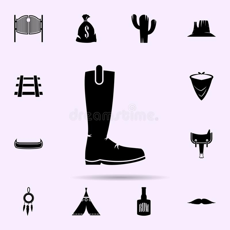 Rejette l'ic?ne ensemble universel d'icônes matérielles occidentales sauvages pour le Web et le mobile illustration de vecteur