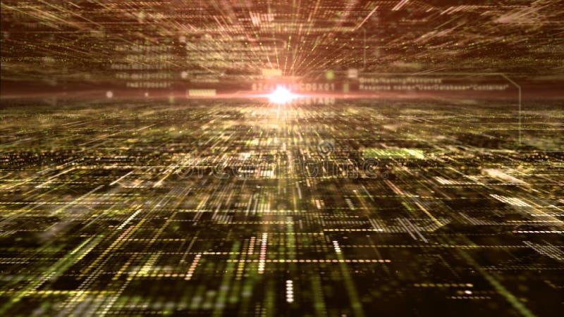 Rejilla abstracta futurista de las partículas de la matriz de Digitaces fotos de archivo libres de regalías