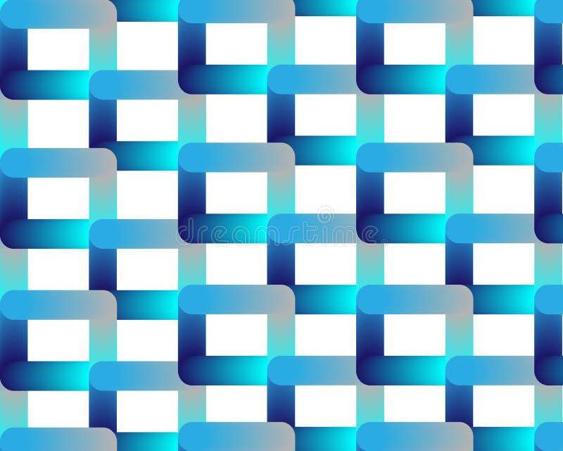 Rejilla azul azul de neón en el fondo blanco libre illustration