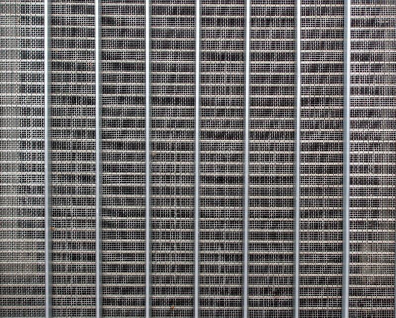 Rejilla de acero abstracta del radiador del pliegue fotografía de archivo libre de regalías