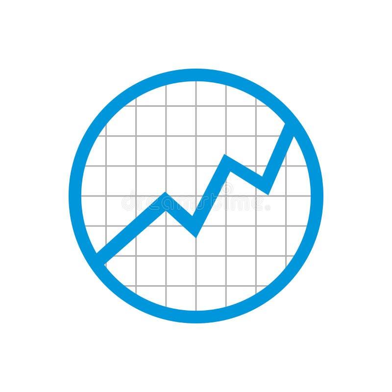 Rejilla de la estadística del círculo que sube encima de diseño del símbolo libre illustration