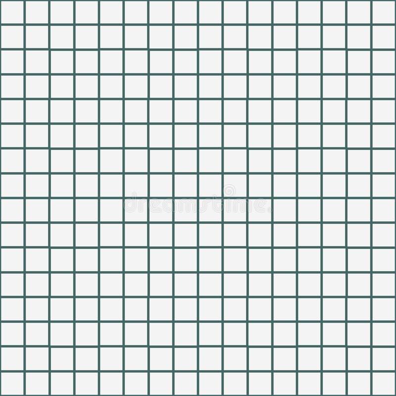 Rejilla de papel, fondo inconsútil ajustado de papel del modelo de la textura Modelo inconsútil del cuaderno de la escuela Líneas libre illustration