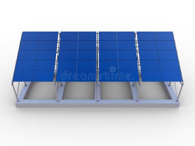 Rejilla del panel solar stock de ilustración