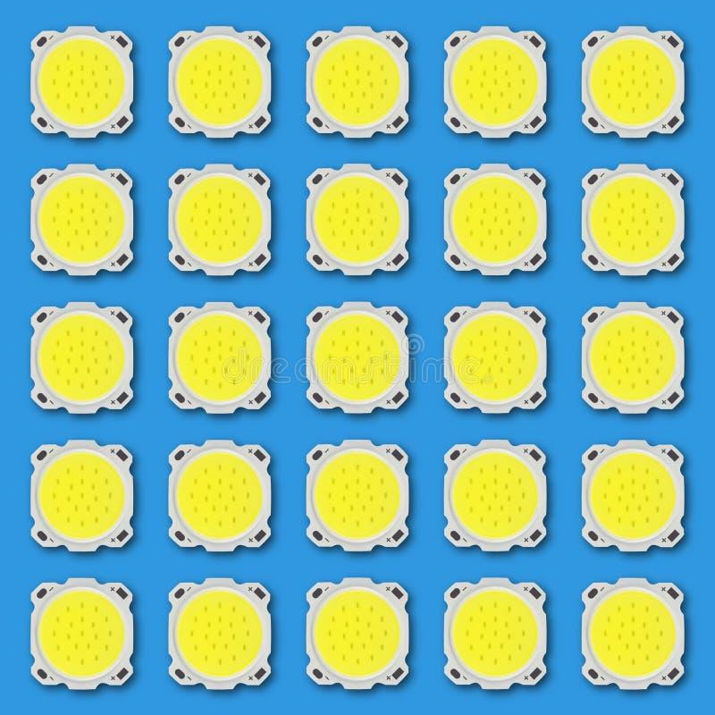 Rejilla eléctrica - diodos electroluminosos del LED de poder grande Isolat stock de ilustración