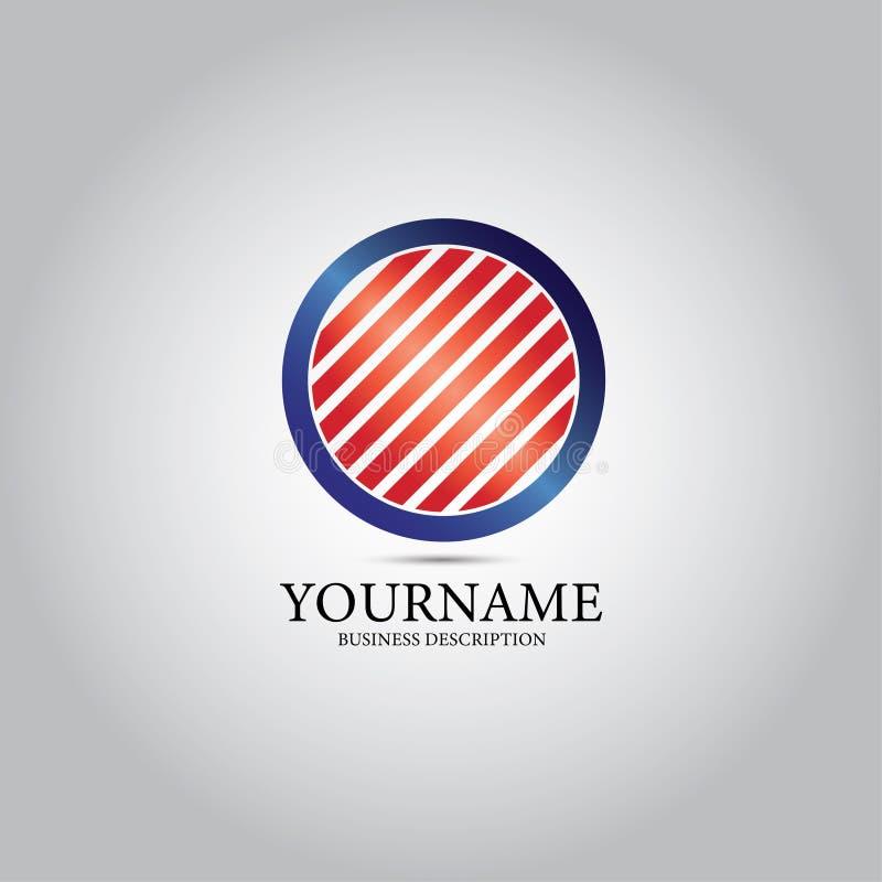 Rejilla en el logotipo circular de la plantilla stock de ilustración