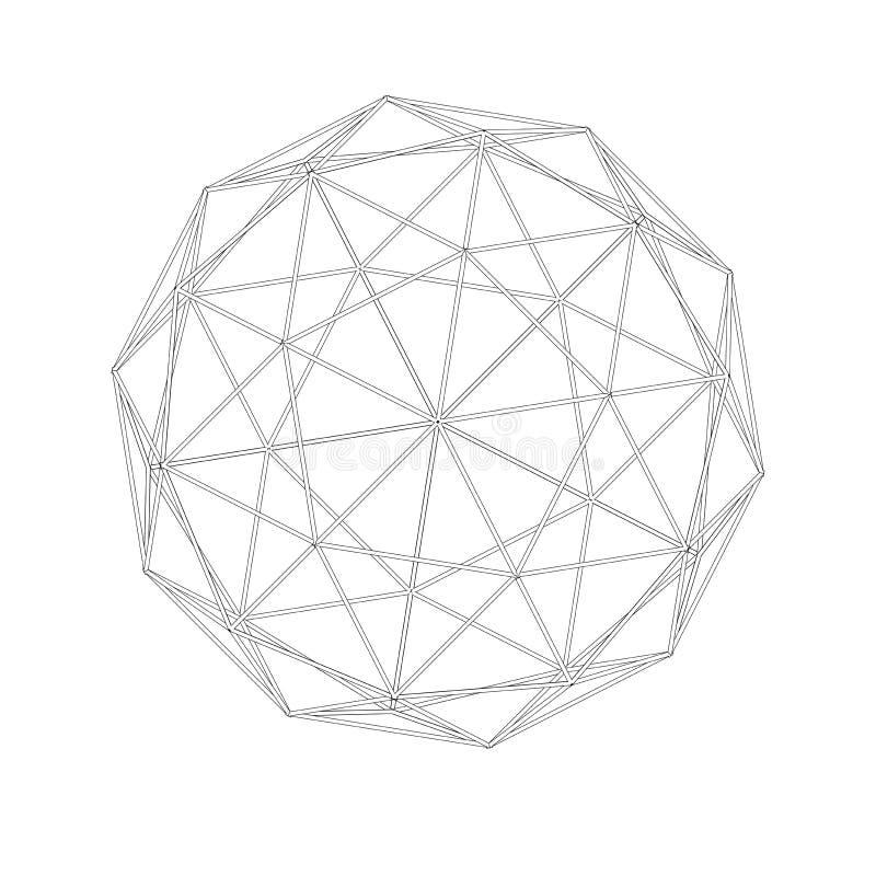 Rejilla geodésica acoplamientos Geometría sagrada ilustración del vector
