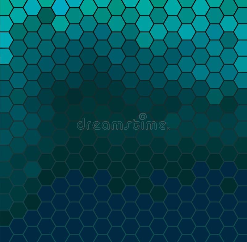 Rejilla hexagonal esmeralda libre illustration
