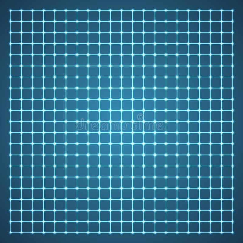 Rejilla iluminada. stock de ilustración