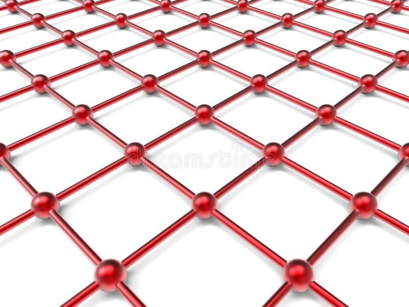 Rejilla roja de la red ilustración del vector