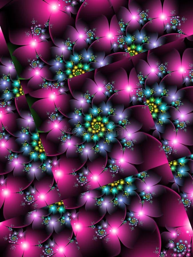 Rejillas de giro de la flor stock de ilustración