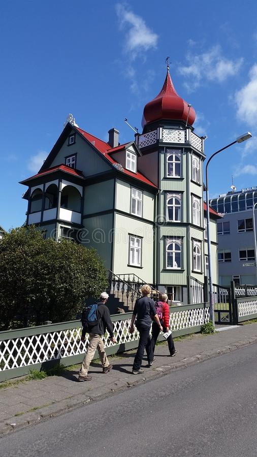 Rejkyavik Traditional House stock photo