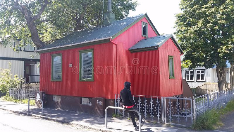 Rejkyavik Traditional House stock photos