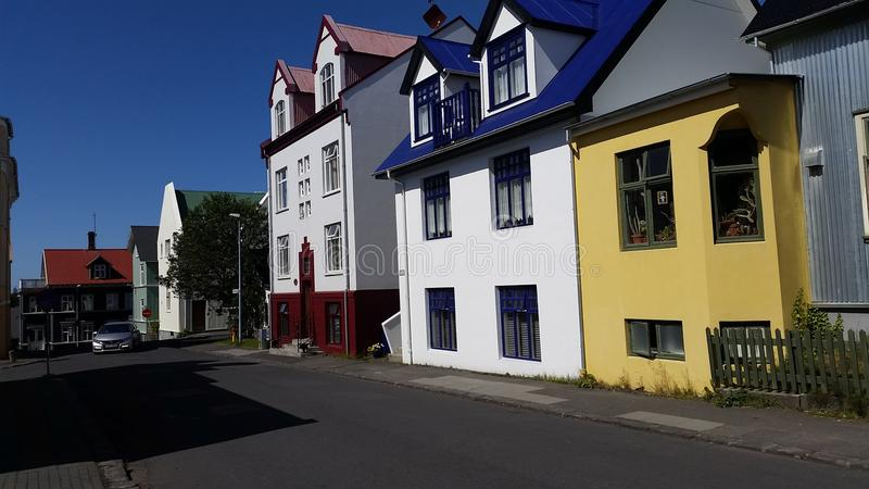 Rejkyavik Traditional Housees royalty free stock photography