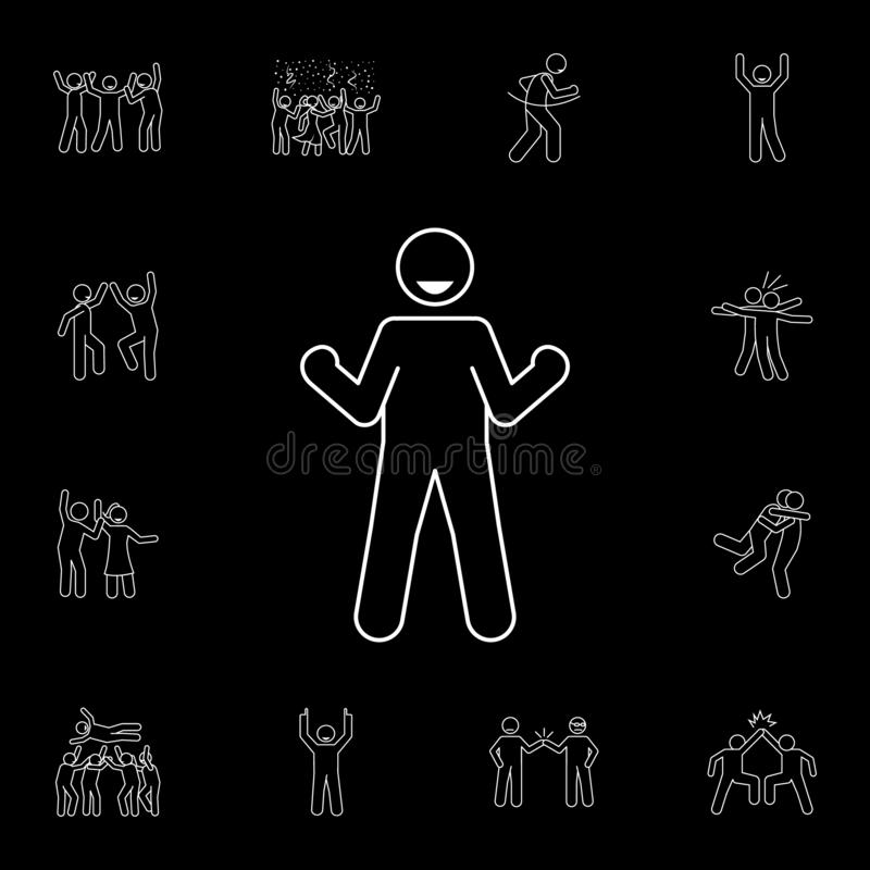 rejoice icon. Detailed set of people celebration icons. Premium graphic design. One of the collection icons for websites, web vector illustration
