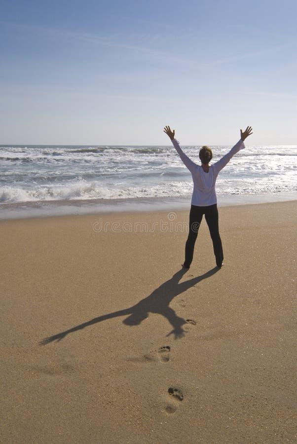 Free Rejoicing At Beach Stock Photo - 19175060