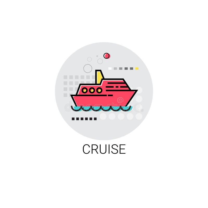 Rejs Dennej podróży wakacje ikona royalty ilustracja