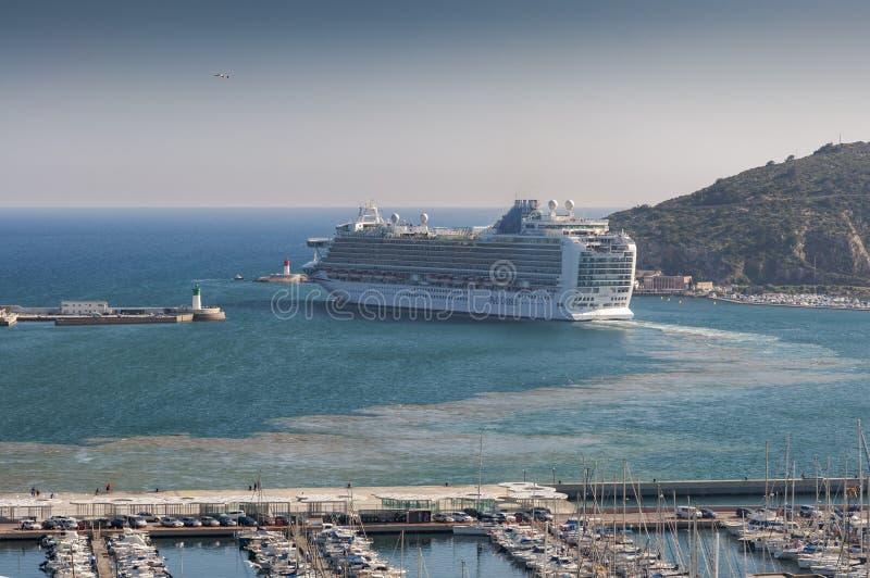 Rejs opuszcza port Cartagena fotografia stock