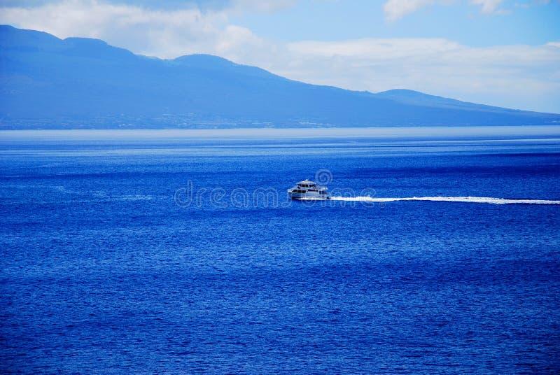 Rejs w Błękitnym oceanie Maui, Hawaje fotografia stock