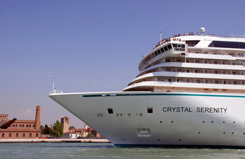 rejsu krystaliczny luksusowy spokoju statek obraz royalty free