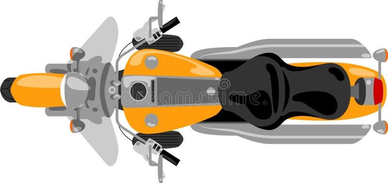Rejsu motocyklu odosobniony odgórny widok ilustracja wektor