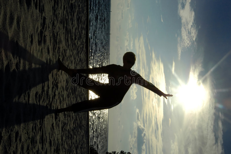 Rek aan zon stock fotografie