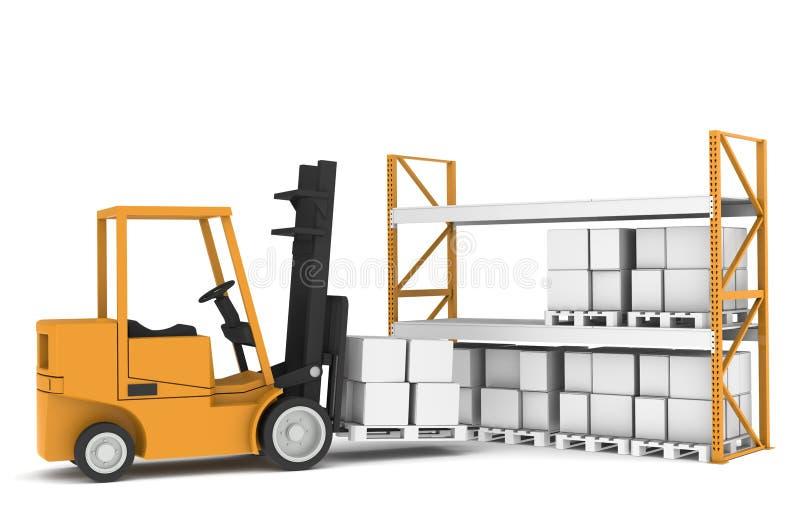 Rek en vrachtwagen royalty-vrije illustratie