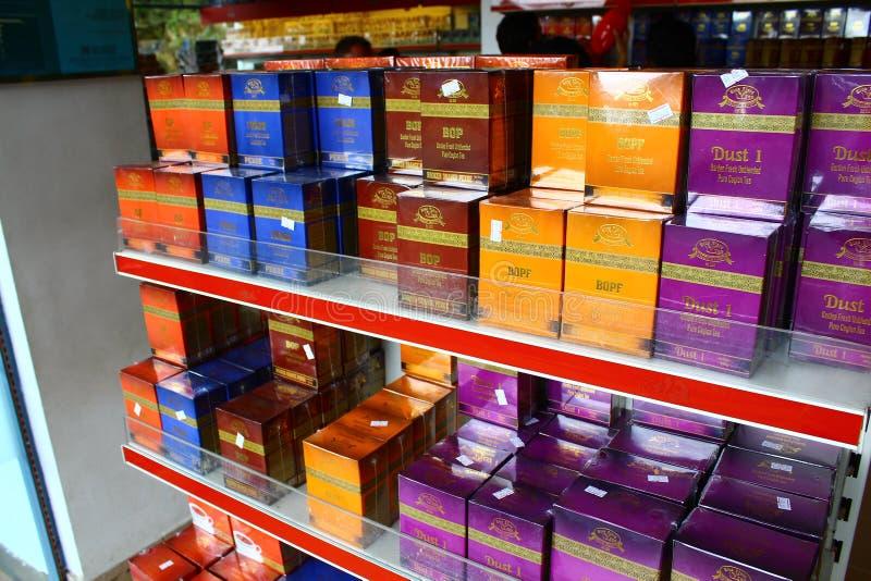 Rek met de zwarte thee van Ceylon royalty-vrije stock afbeelding