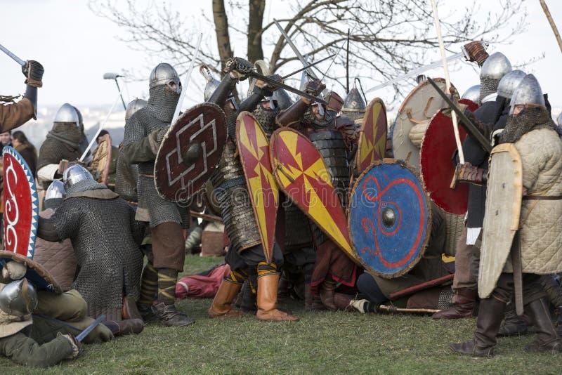 Rekawka - Poolse die traditie, in Krakau op Dinsdag na Pasen wordt gevierd stock foto's