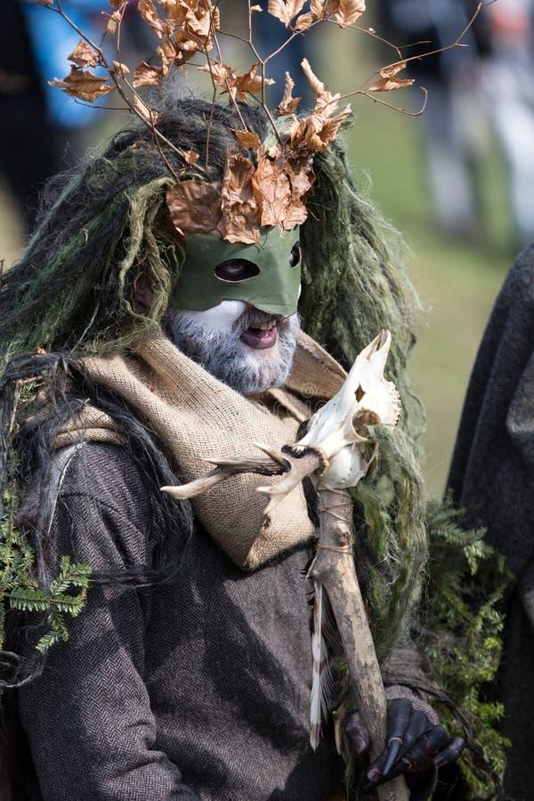 Rekawka - Poolse die traditie, in Krakau op Dinsdag na Pasen wordt gevierd royalty-vrije stock foto