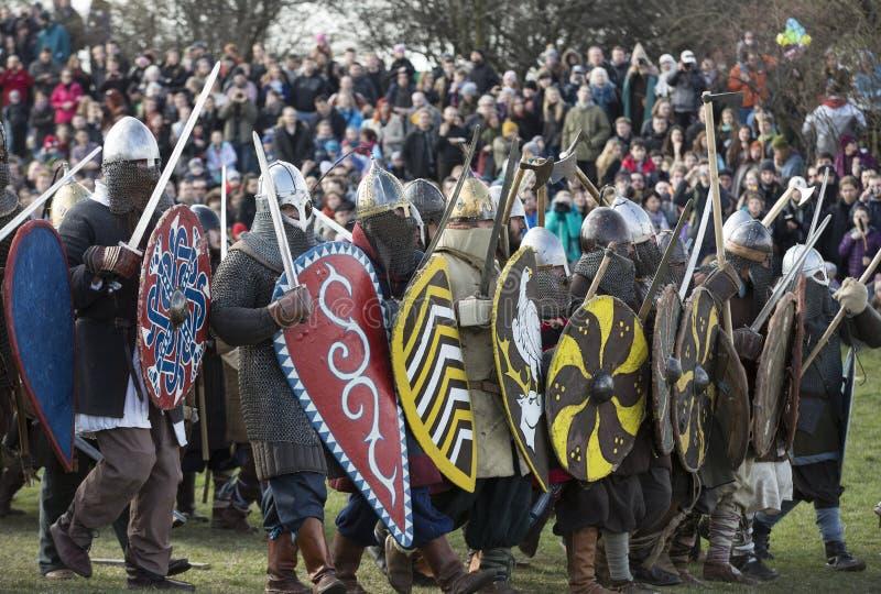 Rekawka - Poolse die traditie, in Krakau op Dinsdag na Pasen wordt gevierd stock foto