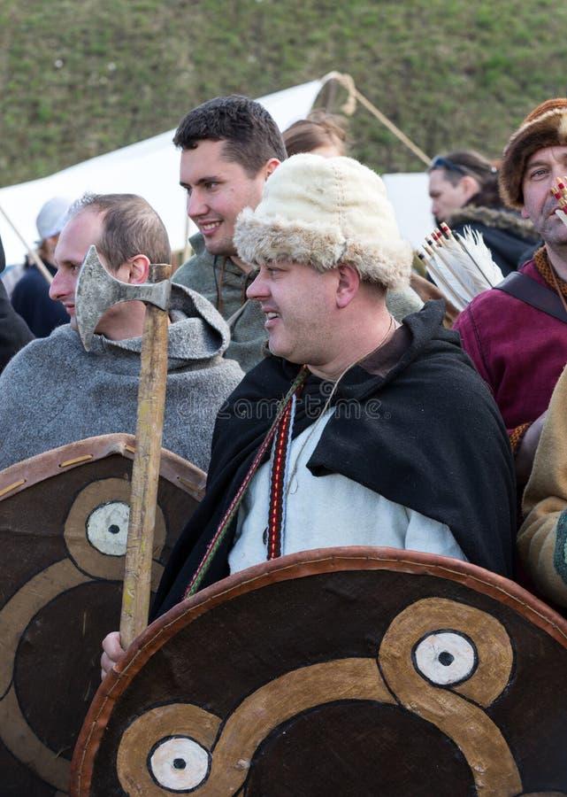 Rekawka - Poolse die traditie, in Krakau op Dinsdag na Pasen wordt gevierd stock afbeelding
