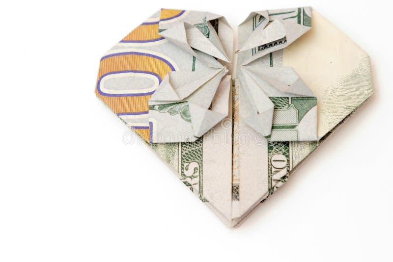 Rekening in de vorm van hart op een witte achtergrond royalty-vrije stock foto's