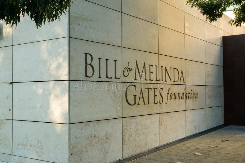 Rekening en Melinda Gates Foundation stock foto's