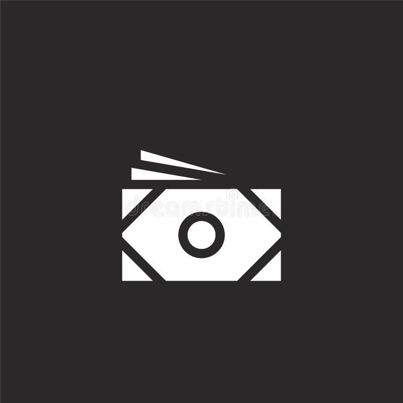 rekeningenpictogram Gevuld rekeningenpictogram voor websiteontwerp en mobiel, app ontwikkeling rekeningenpictogram van gevulde ma royalty-vrije illustratie