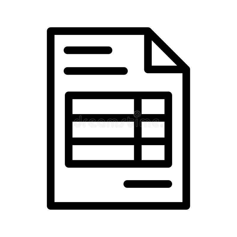 Rekeningspictogram vector illustratie