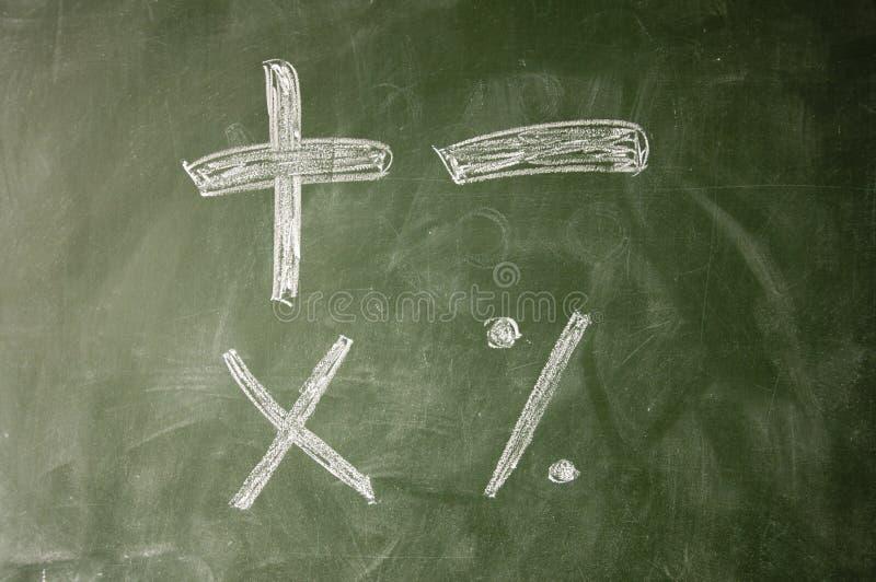 Rekenkundige symbolen royalty-vrije stock afbeelding
