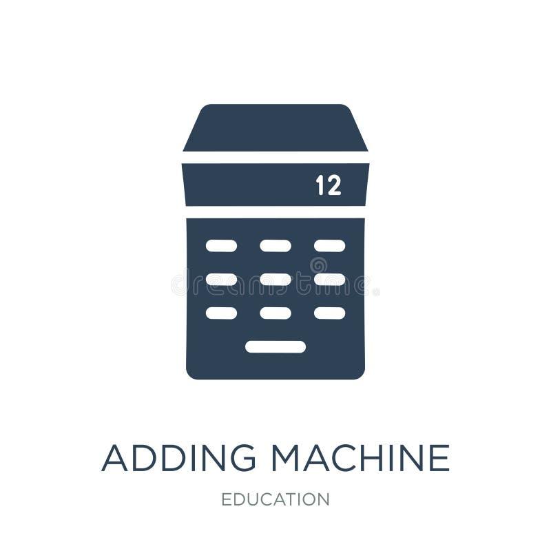rekenmachinepictogram in in ontwerpstijl rekenmachinepictogram op witte achtergrond wordt geïsoleerd die eenvoudig rekenmachine v vector illustratie