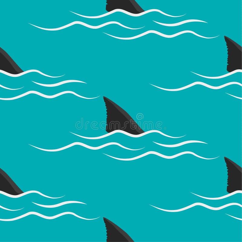 Rekinów żebra na błękitnym tle royalty ilustracja