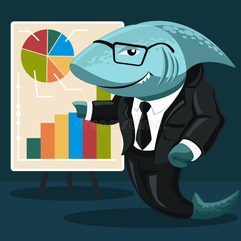 Rekin biznes ilustracja wektor