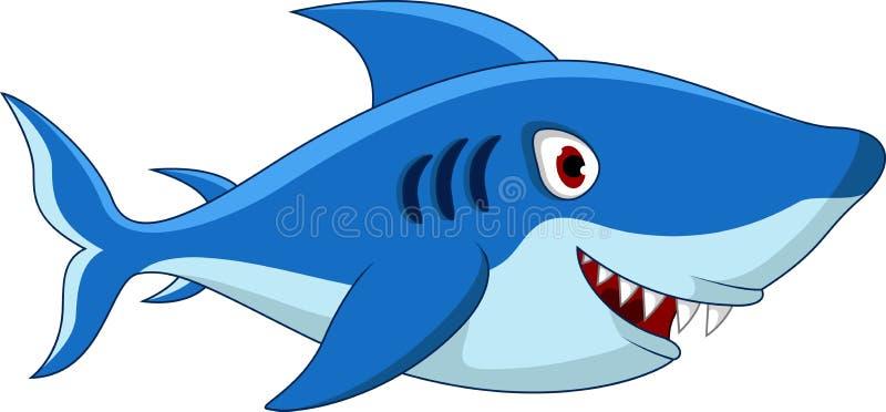Rekin kreskówka dla ciebie projektuje royalty ilustracja