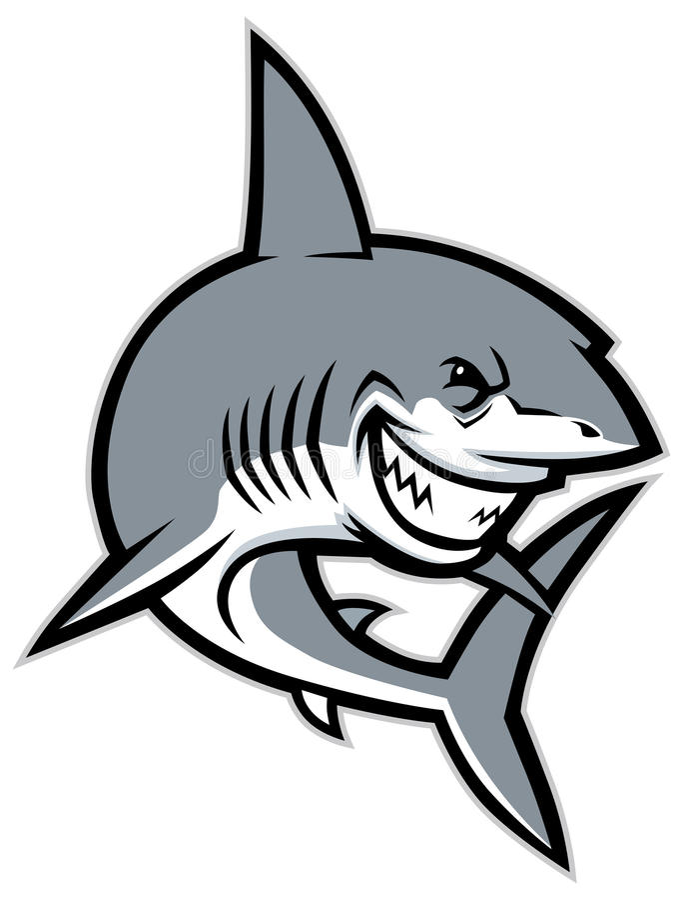 Rekin maskotka royalty ilustracja