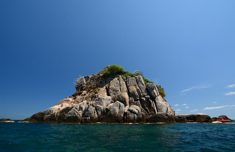 Rekin wyspa, popularny punkt, snorkeling i nurkuje koh Tao Tajlandia zdjęcie royalty free