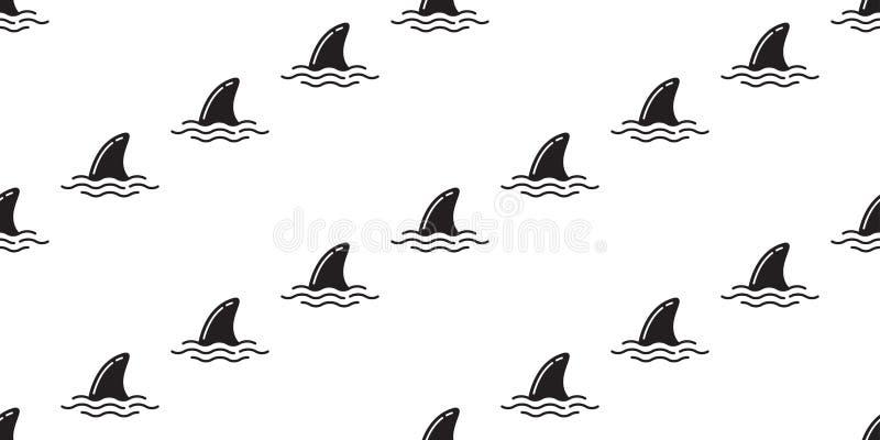 Rekinu żebra wielorybiego dennego oceanu lata powtórki tła bezszwowy deseniowy delfin odizolowywająca tropikalna tapeta royalty ilustracja