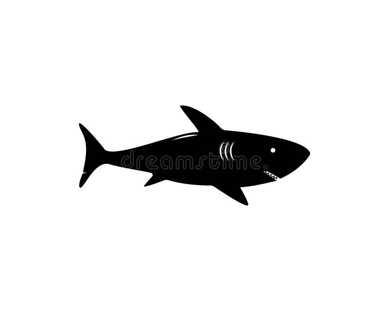 Rekinu loga szablon ilustracja wektor