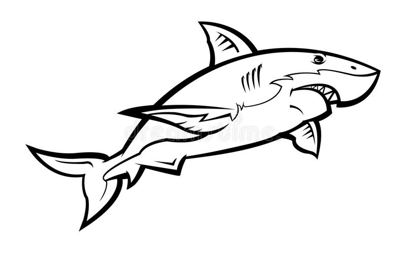Rekinu wektoru ikona royalty ilustracja