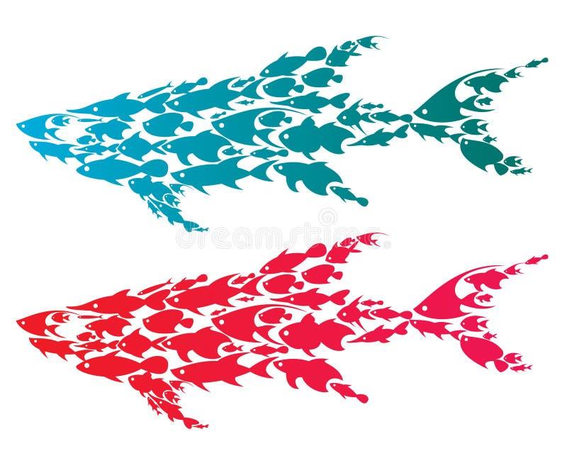 rekiny ilustracji