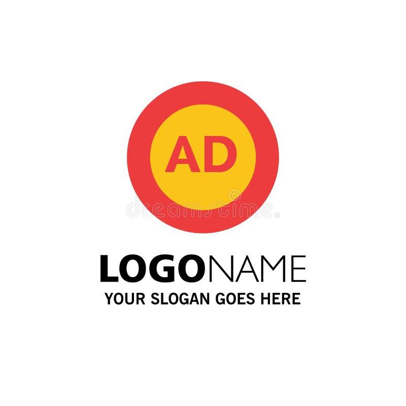 Reklama, reklama blok, reklama, reklama, Blokowy Biznesowy logo szablon p?aski kolor ilustracji