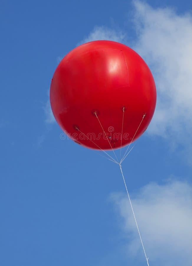 Reklama czerwony balon fotografia stock