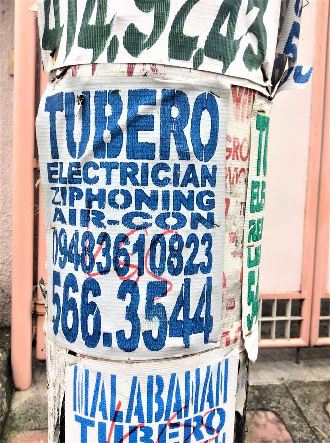 Reklama elektryk i hydraulik zdjęcia royalty free