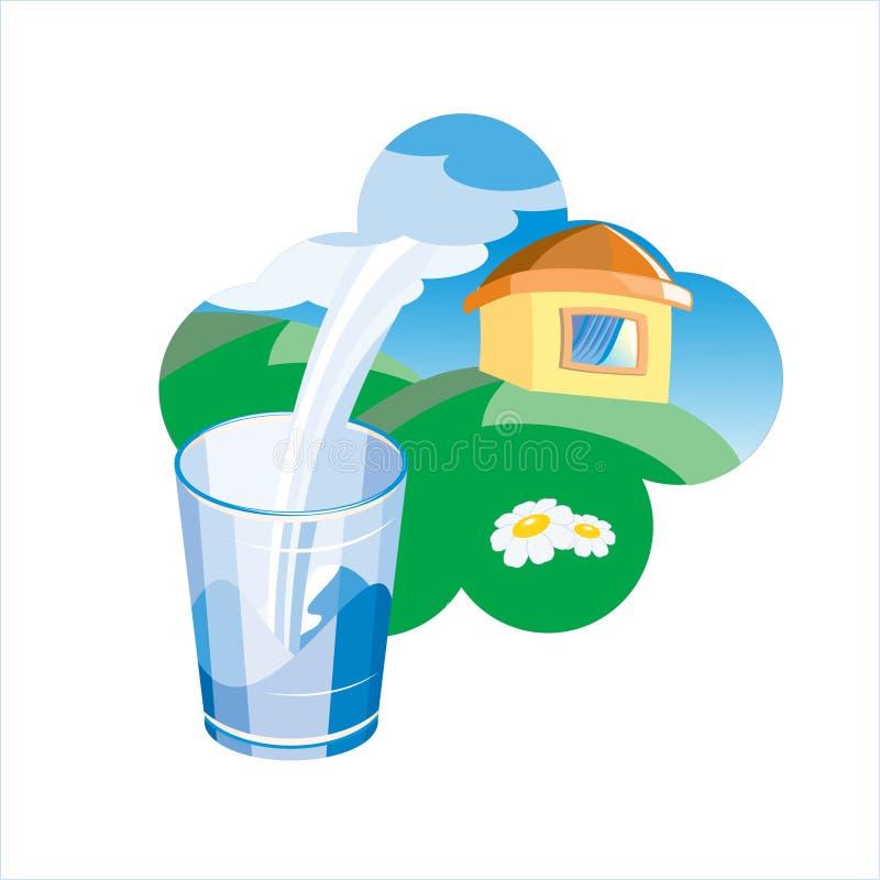 reklama ilustracji mleka obrazy stock